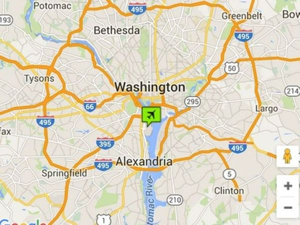Washington DC Airports Maps and Directions