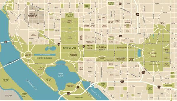 Washington DC National Mall Maps Directions and