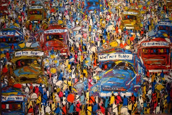 Lorry Station by Ablade Glover, Ghana Artist