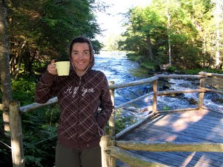 Nothing like camping coffee by the waterfalls in Nova Scotia!