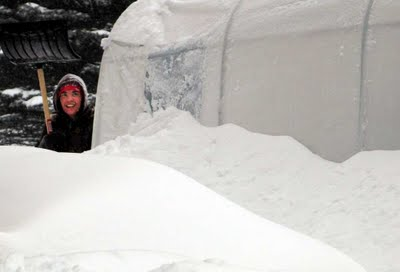 Record snowstorm in Eastern Canada; time to shovel out!