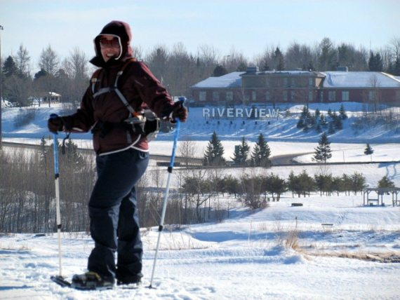 Snowshoeing in Riverview, New Brunswick