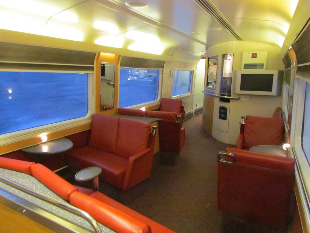 water lounge chairs cosco high chair adjust via rail ocean line sleeper trip moncton to montreal – travels, trips & tails