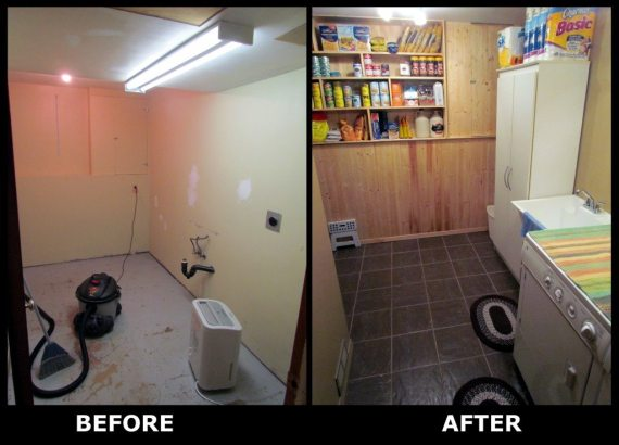 Before and After Laundry Room Renovations