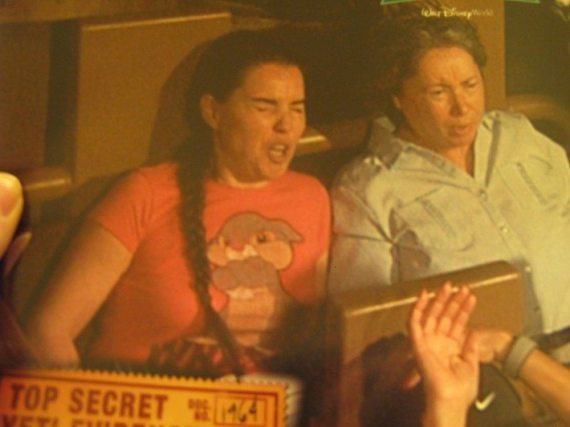 DD's memorable face during the Expedition Everest ride at Walt Disney World's Animal Kingdom