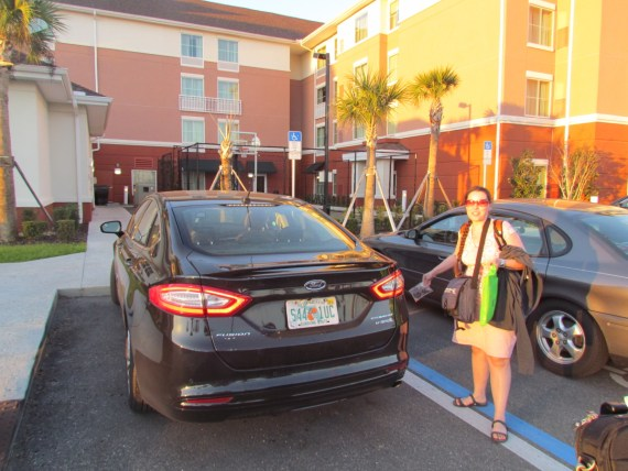 We rented a hybrid Ford Fusion at the Orlando Airport. At first it was too complicated for me as I am used to an Analog car but once I got the hang of it we loved the quiet ride and sunroof!