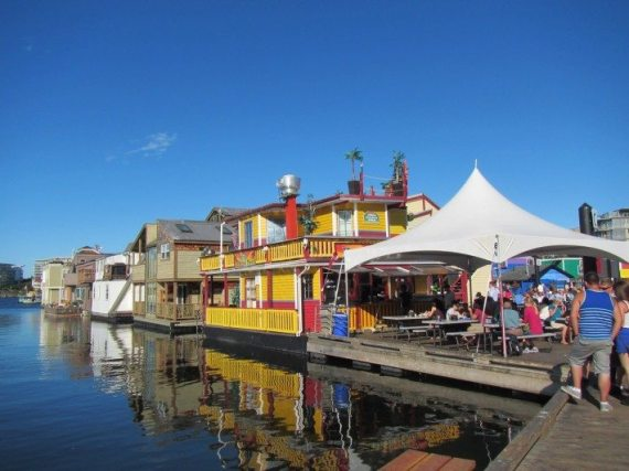 Another popular place to visit in Victoria, BC is Fisherman's Wharf where more than 30 permanent residents live in boat houses.