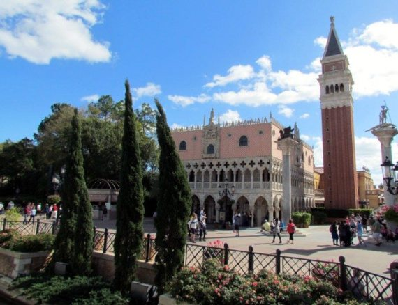 From a distance the Italian Pavillion at Epcot was really beautiful! Bellissimo!
