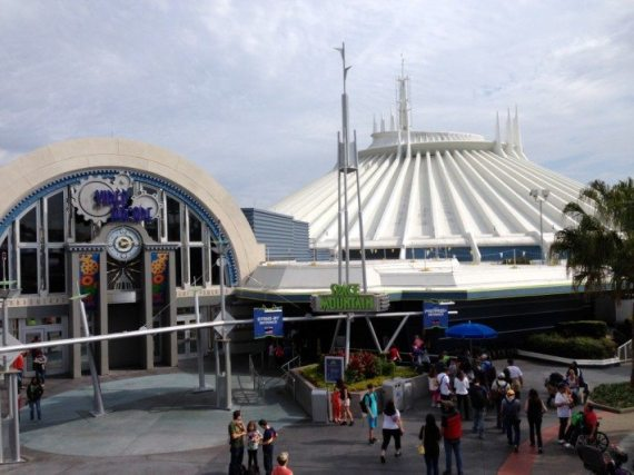 It's awesome to ride the monorail or take the train around the site ebacuse you get such a great view and here is the Space Mountain and I didn't do the ride yet so will have to next time!