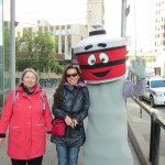 Mama D and DD with the Calgary Tower Mascot