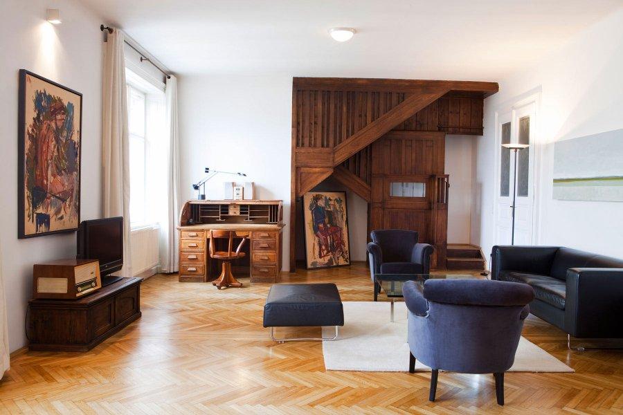 Hotelli Altstadtin sisustuksessa on kivoja yksityiskohtia. Kuvassa Otto-sviitti. © Altstadt Vienna