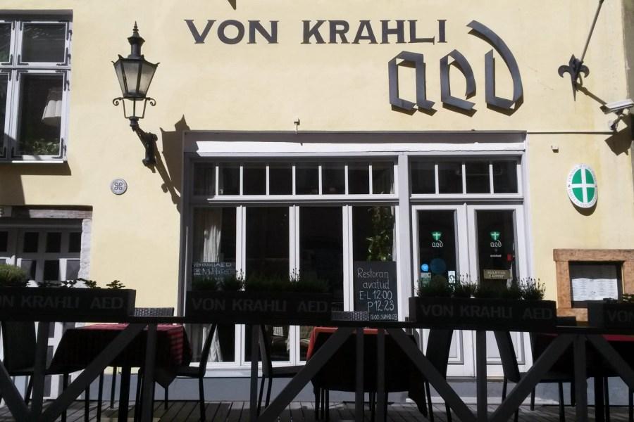 Ravintola von Krahli Aed Tallinnan vanhassakaupungissa. © tripsteri.fi / Veera Marjamaa