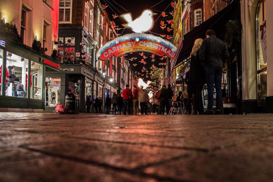 Carnaby Streetin joulutunnelmaa. Kuva: Pavlina Jane, flickr.com, CC BY-SA 2.0