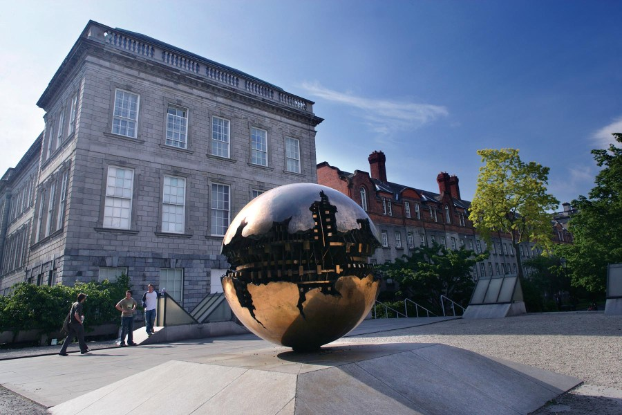 Pomodoro Sculpture, Trinity College © Tourism Ireland