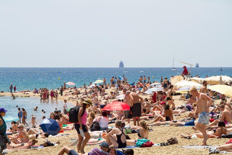 Ruuhkaa Barcelonetan rannalla. © tripsteri.fi / Tuulia Kolehmainen