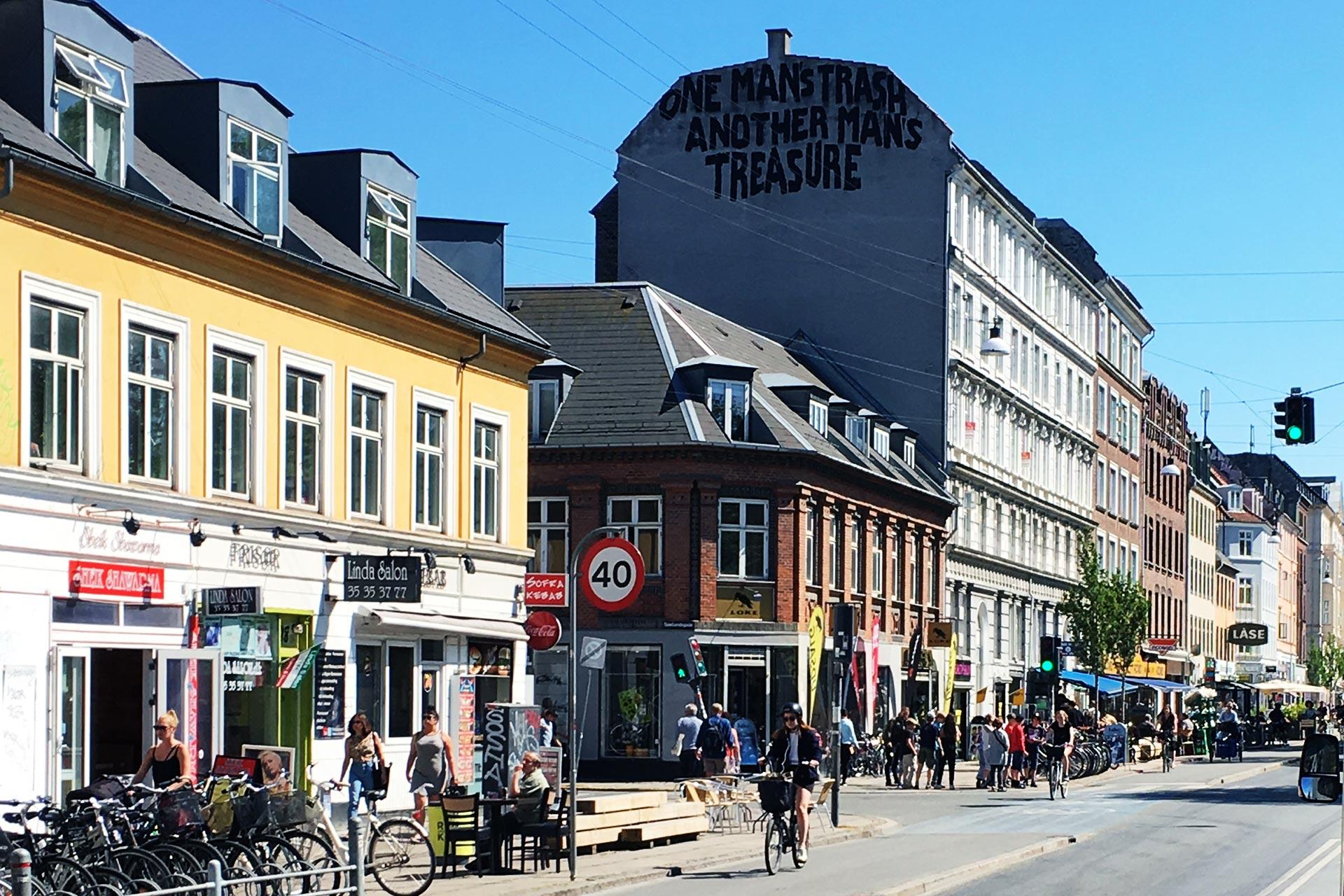 Kööpenhamina on rento pöyräilykaupunki, mistä Nørrebrogade on hyvä esimerkki. © Martin Mohr