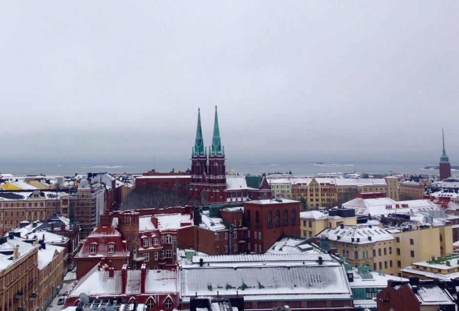 Pelastusaseman tornista on hienot maisemanäkymät yli Helsingin. © Siru Valleala