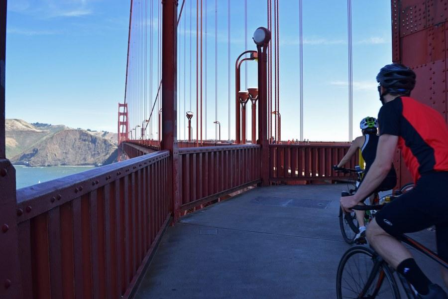 Kanssapyöräilijöiden kunnioittaminen on Golden Gate -sillalla tärkeää. Kuva: Reetta Kemppi