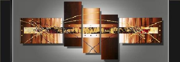 Tableaux design abstrait tableau Eva Jekins 100 peint main