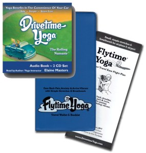 Drivetime Yoga CD and Flytime Yoga, stress free travel, trip wellness