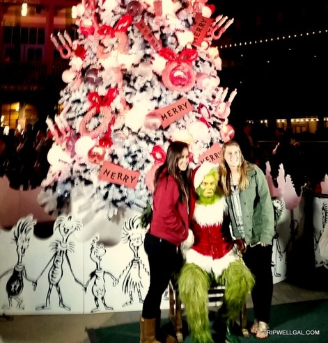 Grinch tree Balboa Park Holiday Stress busting