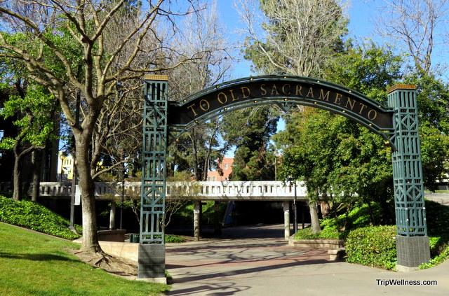 Entrance to Old Town, Sacramento, Capitol Corridor, trip wellness