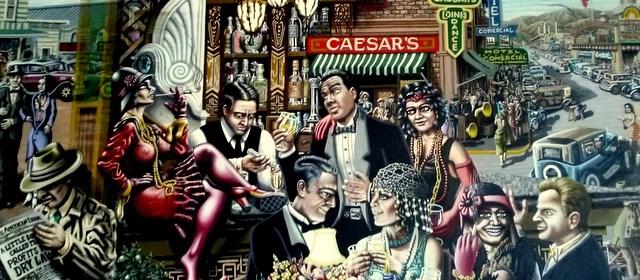 Mural inside Caesars. Daytrip to Tijuana. Tripwellness.