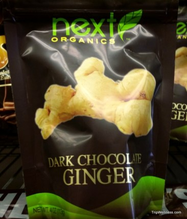 Ginger with dark chocolate