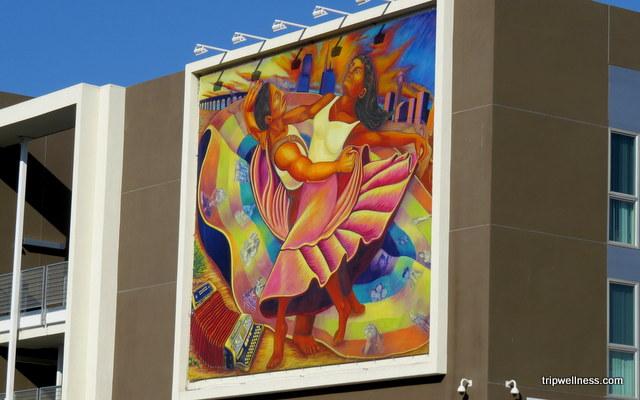 Dancing mural Barrio Logan