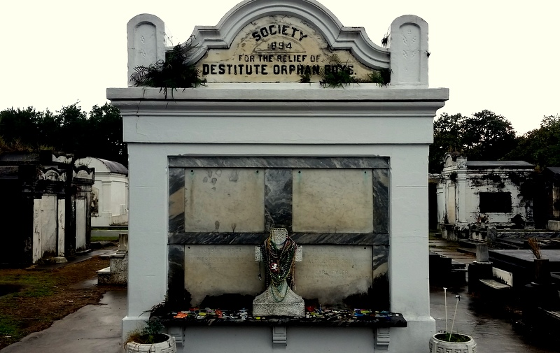 Orphan boys tomb in New Orleans cemetery.