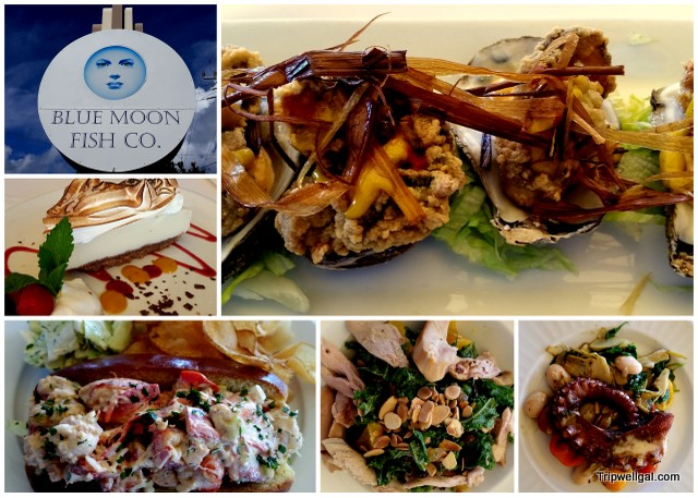 Blue Moon Fish Company with dining at the dock in Fort Lauderdale.