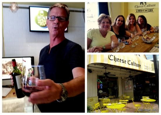A cheese and wine stop on the Las Olas Street Food Tour, Fort Lauderdale