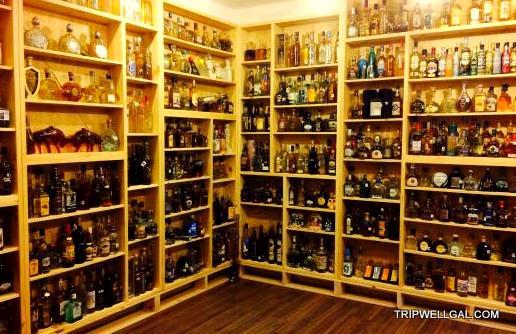 bottles in the Te Quiero Tequila Museum