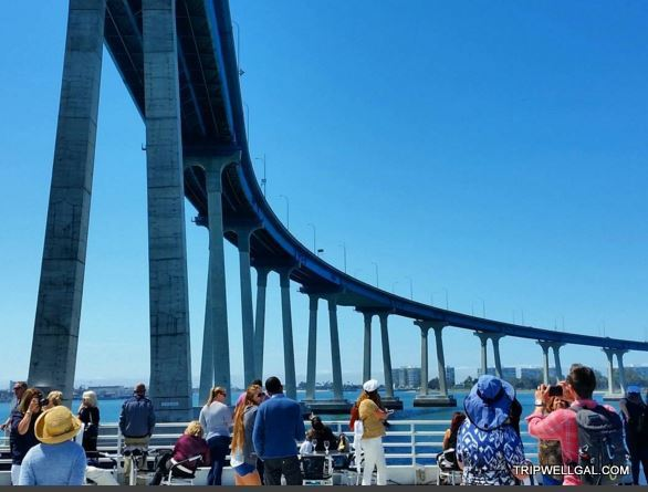 The Coronado Bridge from our Sunday Brunch cruise