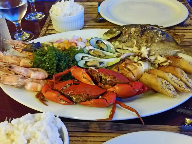 The fish platter served in Badjao