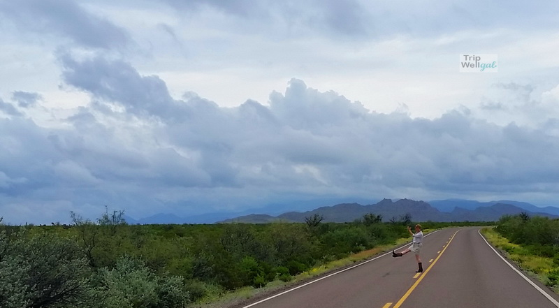 On the road in Big Bend National Park