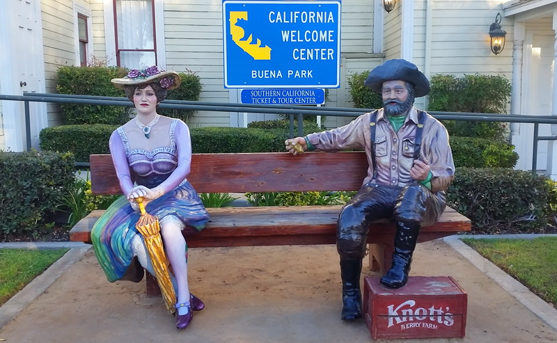 Photo opp outside the historical California Visitors Center Buena Park
