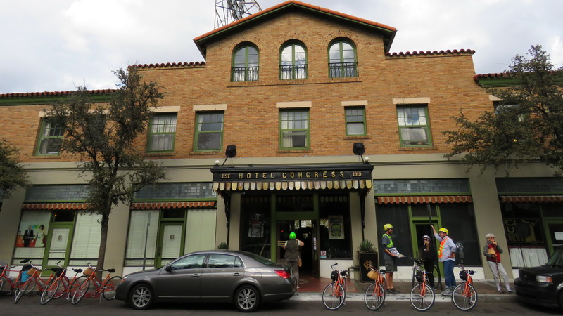 The entry into Hotel Congress where outlaw Dillinger and gang were arrested. Today it hosts great food, reasonable room rates and music.