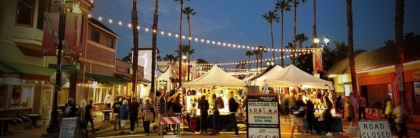 Best places to eat in oceanside are mostly at the weekly night market