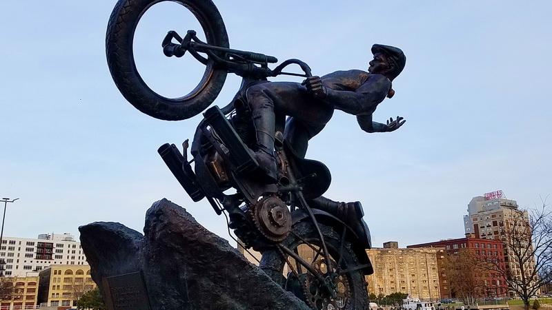 Harley Davidson sculpture