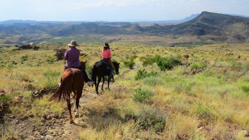Horseback riding on the mesas above the Rio Grand River in Texas