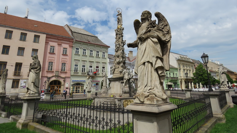 Kosice center Angel and Plague Column