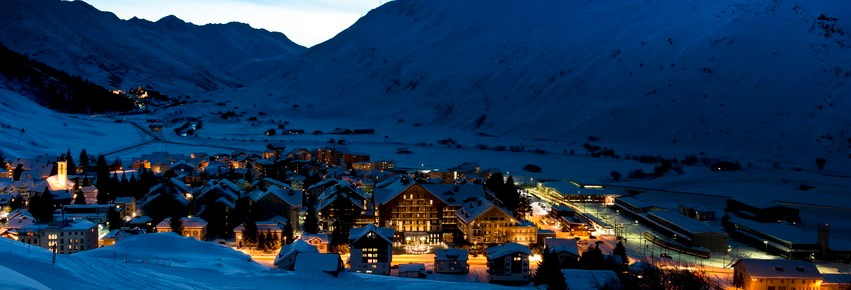 Overview of a holiday in Andermatt in winter