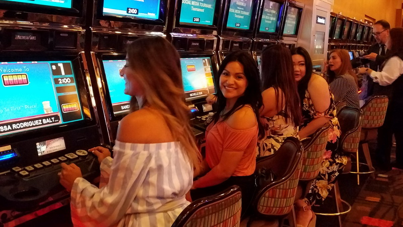 Playing the slots inside the Pala Casino