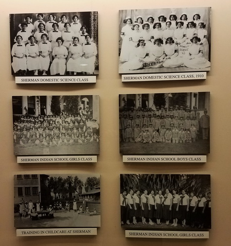 Historical pictures inside the entrance to the casino and hotel from the lots.