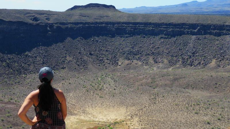 Looking into El Elegante crater inside the PInacate Biosphere.