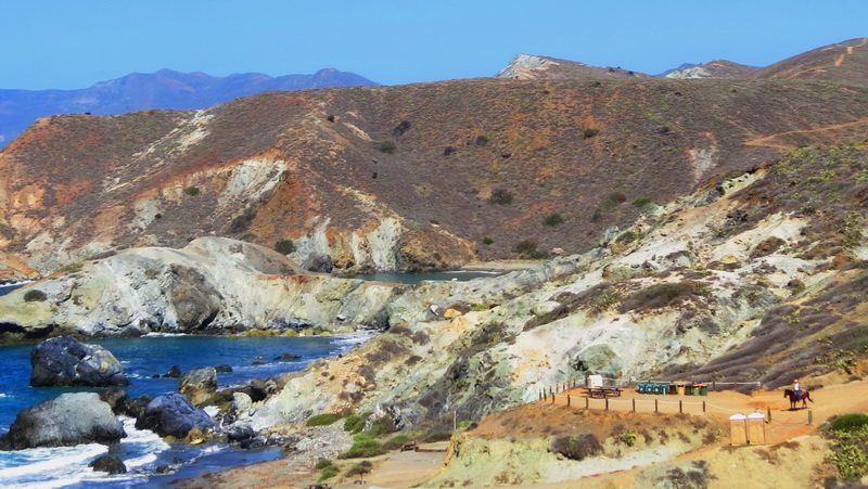 Beaches on far side of Catalina Island
