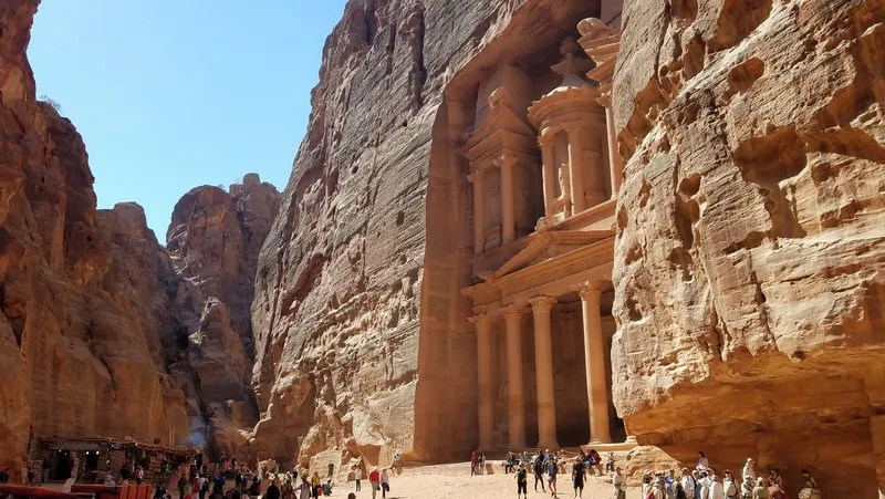 Explore inside Petra from the famous Treasury site on two or four feet