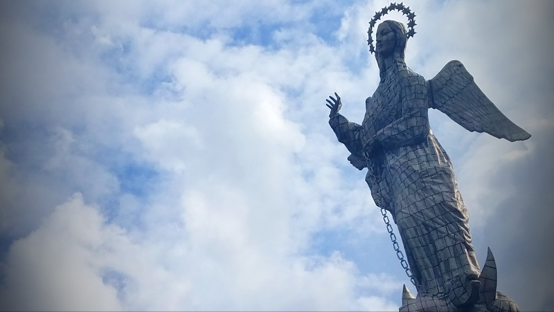 Visit the Angel in Quito at a height of nearly ten thousand feet