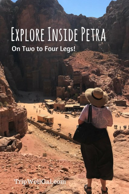Inside Petra with many lookouts and viewpoints